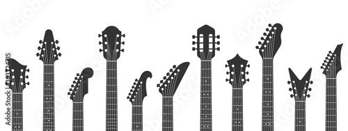 Fotografia, Obraz Guitar headstocks
