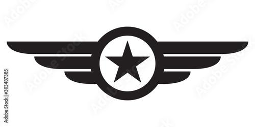 Star with wings logo Fototapeta
