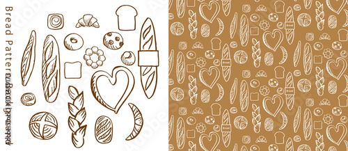 Fotografia 手描きのパンのパターン