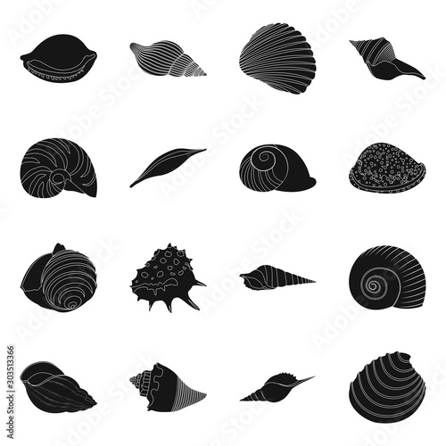 Fotografiet Vector illustration of nature and ocean icon