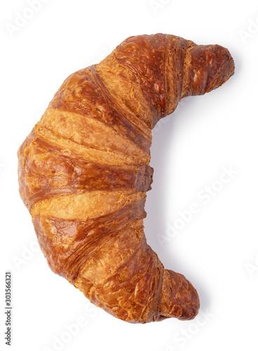 Cuadros en Lienzo fresh croissant on white