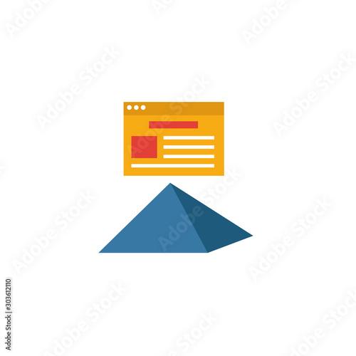 Obraz na plátně Cornerstone Content icon