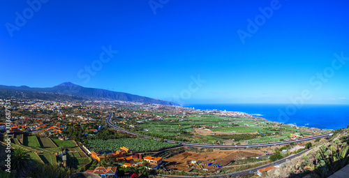 Valley of the Orotava Canary Islands, landscape from the height