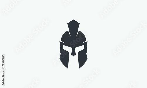 Fotografia, Obraz helmet of the Spartan warrior symbol, emblem