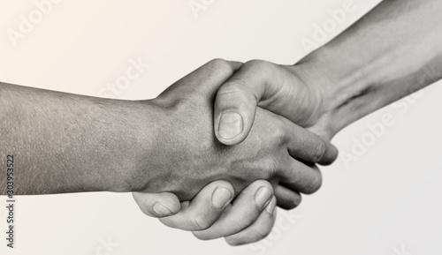Obraz na płótnie Business Agreement Handshake on white background