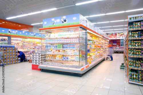 Canvastavla supermarket