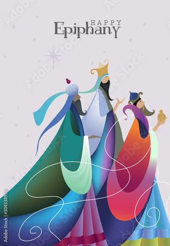 Obraz na płótnie Vector Illustration of Epiphany, Epiphany is a Christian feast day