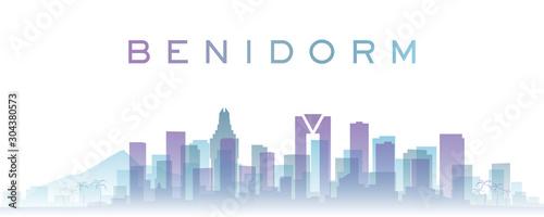 Benidorm Transparent Layers Gradient Landmarks Skyline