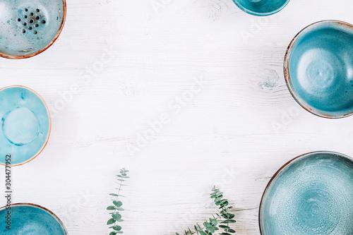 White rustic kitchen background Fotobehang