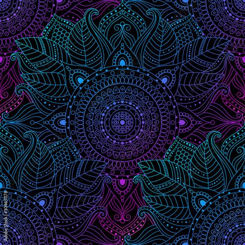 Fototapeta Seamless oriental arabesque pattern