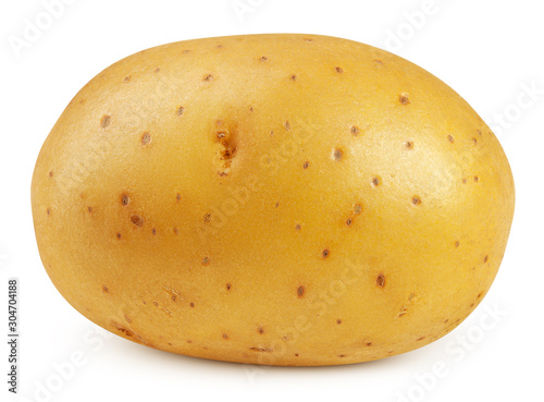 Stampa su Tela potato, isolated on white background, clipping path, full depth of field