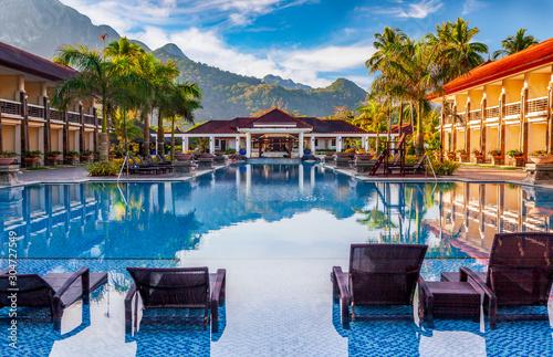 Fotografie, Obraz Luxury Tropical Resort by Morning Light