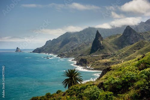 Canvas Print North coast of Tenerife the biggest of Canary Islands