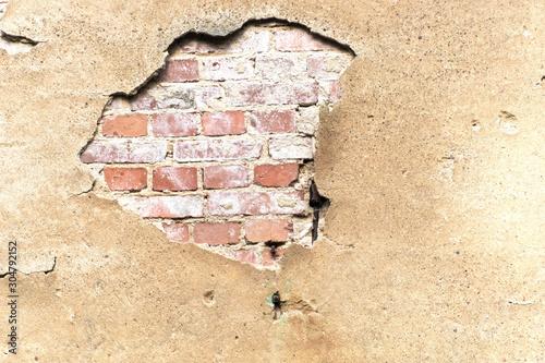 Naklejki na meble Zniszczony beton i mur z cegły