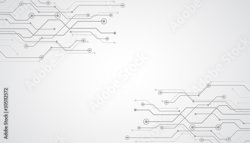 Futuristic gray technology background, electronic motherboard, abstract background with High-tech technology texture – vector