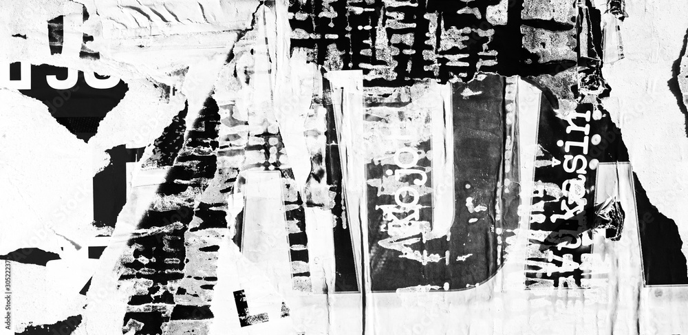 Old ripped torn posters textures backgrounds grunge creased crumpled paper vintage collage placards backdrop
