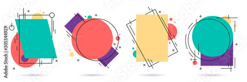 Abstract design shape frame. Graphic layout frame, motion elements and modern shaped borders vector illustration set