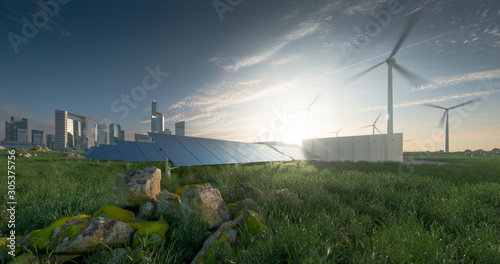 Fotografiet Future renewable energy solution for sustainable cities