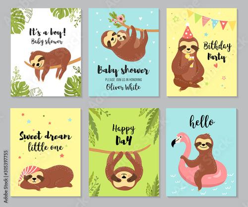 Photo Sloth cards