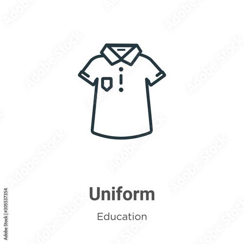 Fotografie, Obraz Uniform outline vector icon
