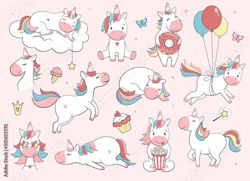 Fotografia Cute unicorn set