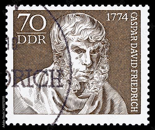 Photographie Germany. 1974.Postage stamp shows Caspar David Friedrich