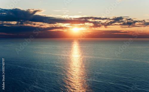 Fotografia, Obraz sunset on the Atlantic ocean