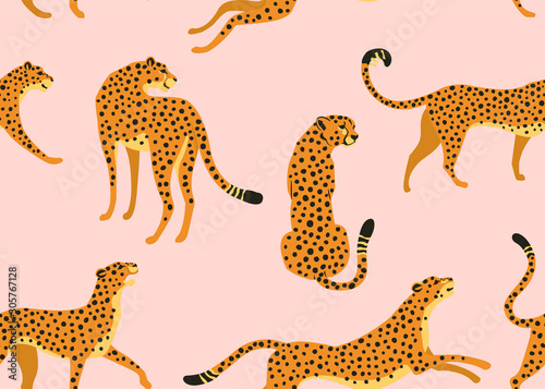 Canvas Print Abstract leopard pattern