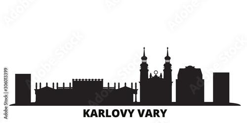 Obraz na plátně Czech Republic, Karlovy Vary city skyline isolated vector illustration