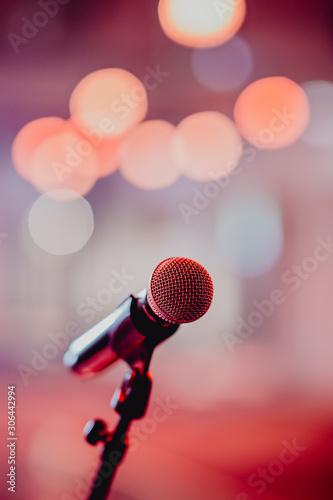 Micro pour concert de musique Fotobehang