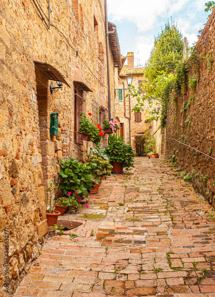 Tuscan Medieval Village Monticchiello Tuscany Italy <span>plik: #306532777   autor: Alice_D</span>