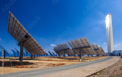 centrale solare a concentrazione - energie rinnovabili Fototapete