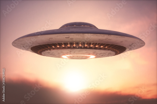 Canvas Print Unidentified Flying Object - Clipping Path Included