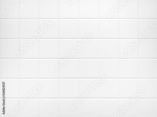 Fotografie, Obraz White tile wall Background Bathroom floor texture minimal decoration