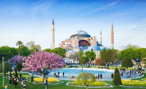 Canvas Print Sultanahmet district in Istanbul, Turkey