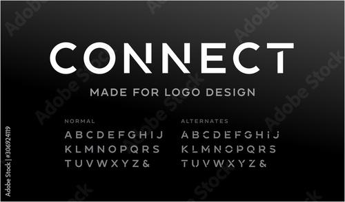 Tela Minimalistic font for logo design