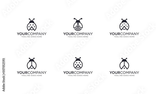 Fotografia Lady bug logo design vector