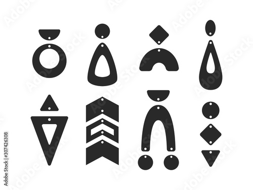 Fotografiet Geometric earring templates