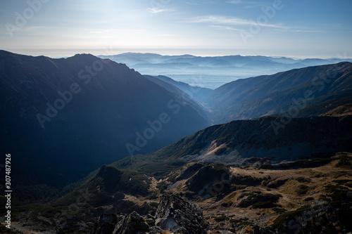 Wschód słońca góry Tatry Słowackie