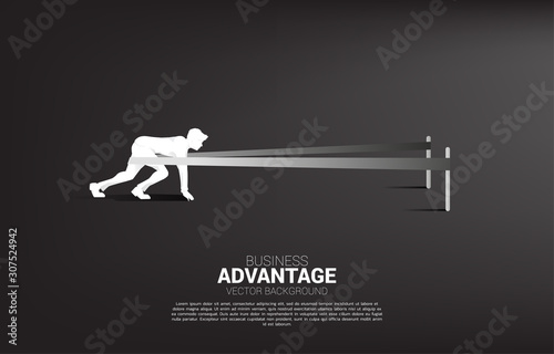 Photo Business concept of and business advantage