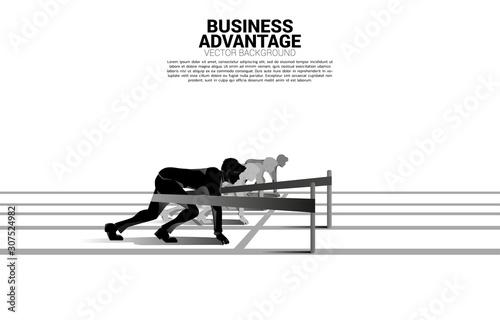 Business concept of competition and business advantage Tapéta, Fotótapéta