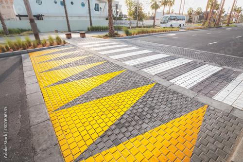 Fotografija Modern bright pedestrian crosswalk