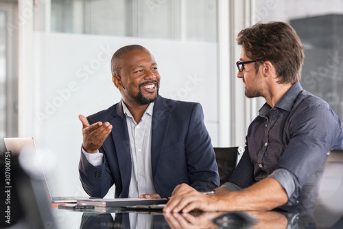 Fotografie, Obraz Multiethnic business people in meeting