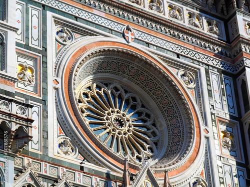 Canvastavla Detail of the Florence Cathedral (Duomo di Firenze, Cattedrale di Santa Maria de
