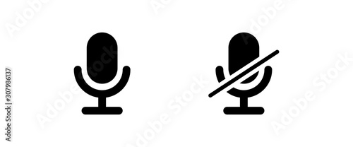 Fotografia microphone icon . web icons or signs . web and mobile icons.