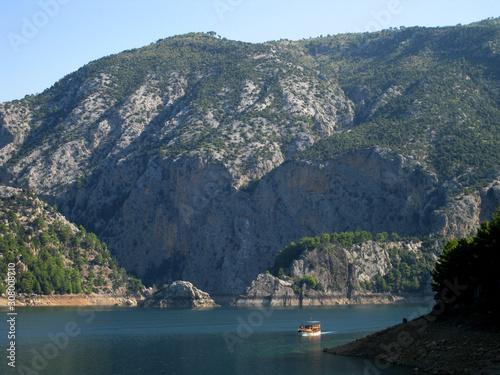 Fototapeta green canyon view