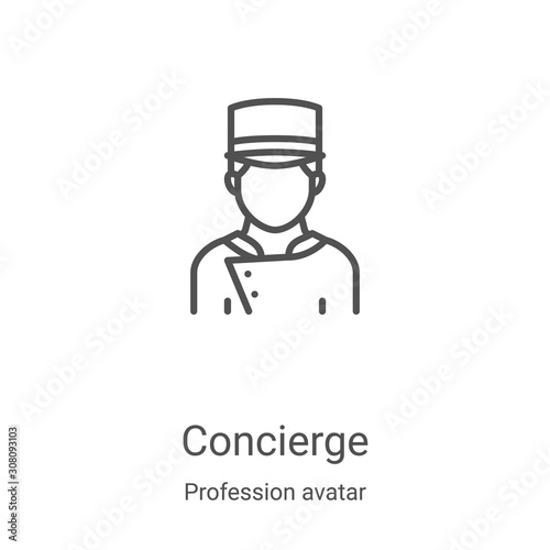 Obraz na plátně concierge icon vector from profession avatar collection