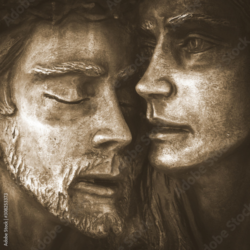 Canvas Print Jesus and Mary