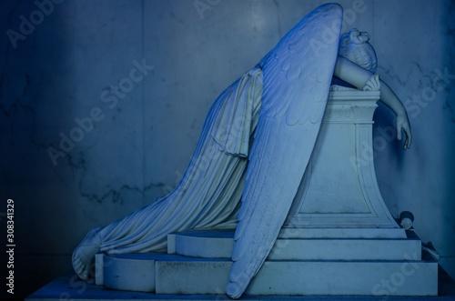 Mesmerizing historic work of art portraying a crying angle Fototapeta