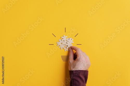 Conceptual image of creativity and idea